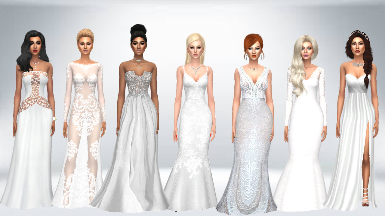 wedding dresses sims 4 photo - 1