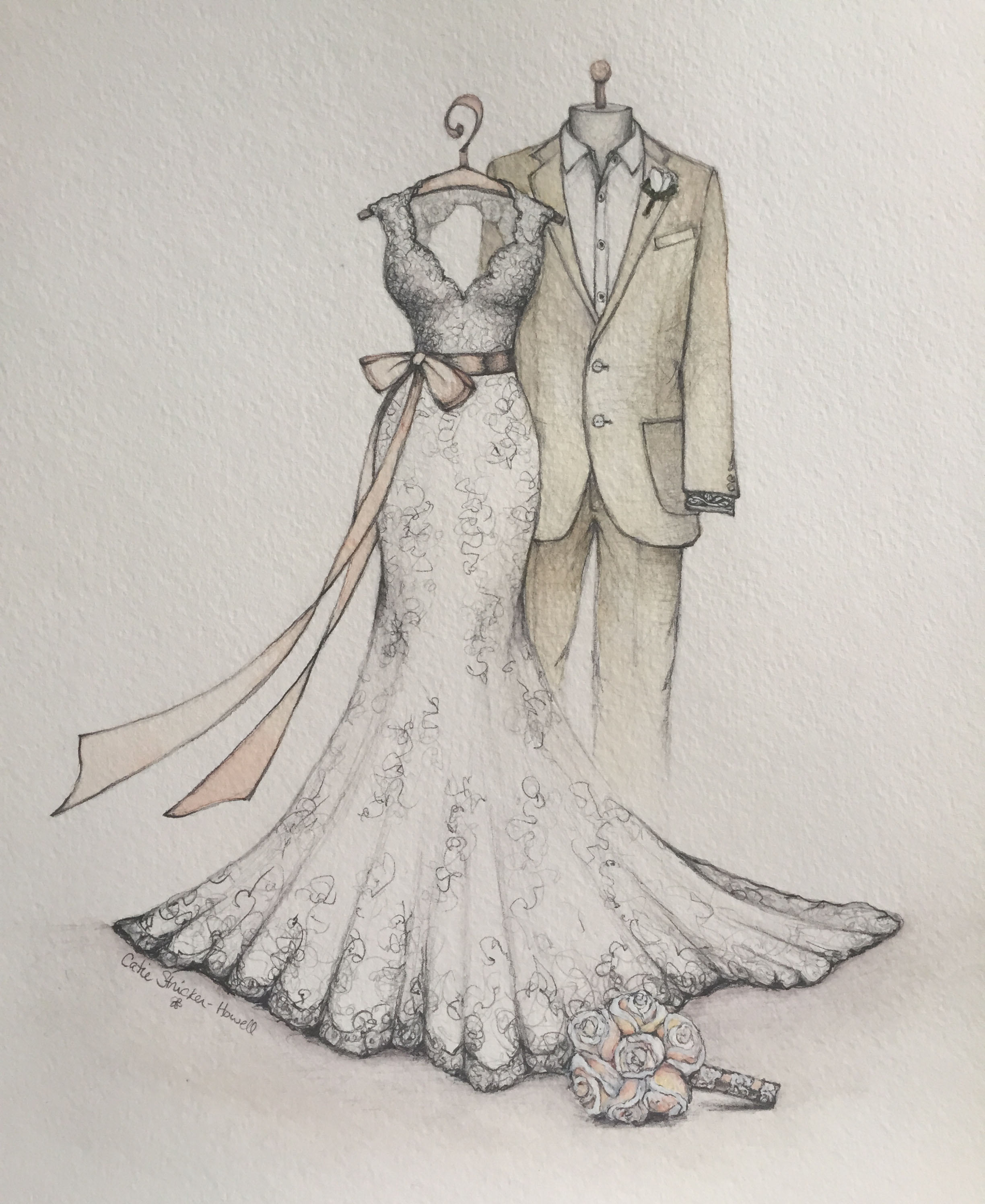 wedding dresses sketches photo - 1