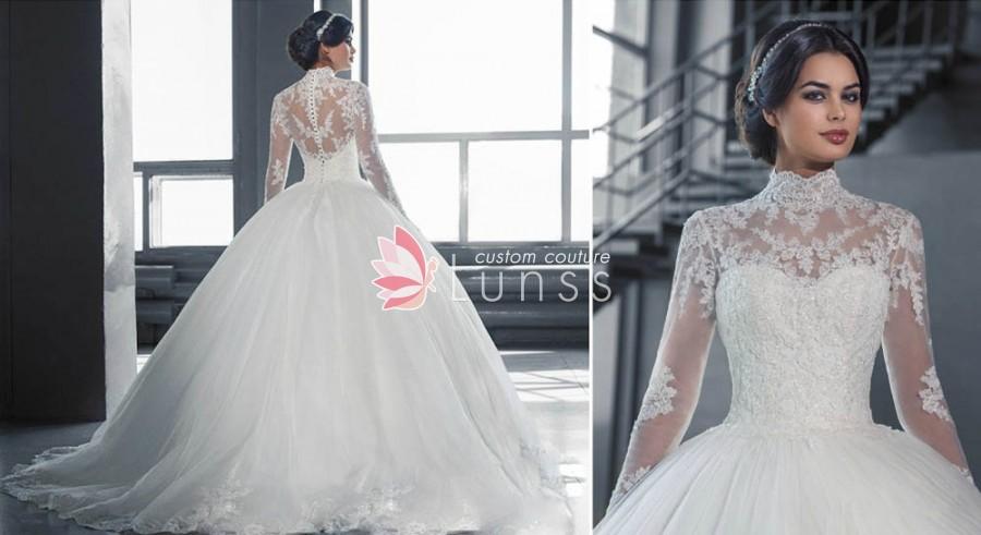 wedding dresses sleeves lace photo - 1