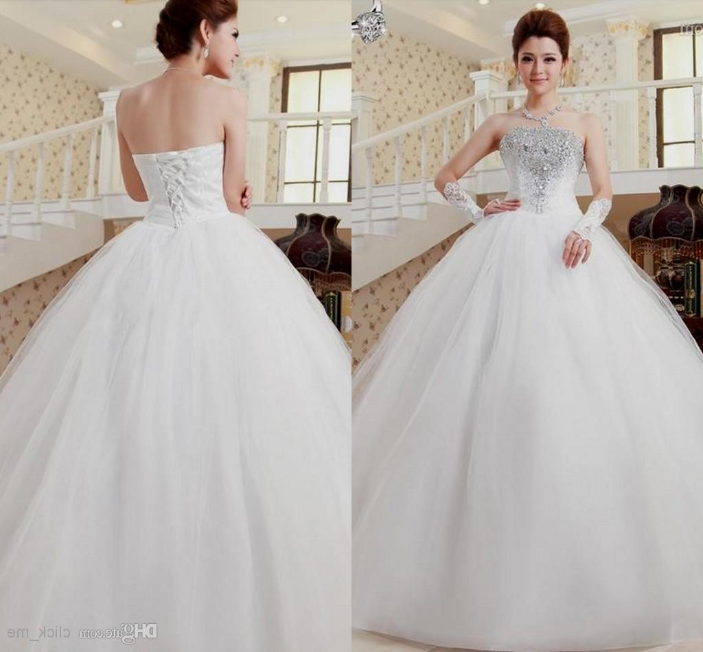 wedding dresses sweetheart neckline princess ball gown strapless photo - 1