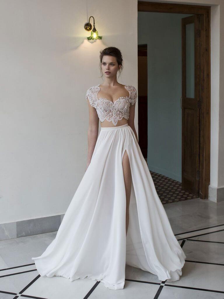 wedding dresses two pieces photo - 1