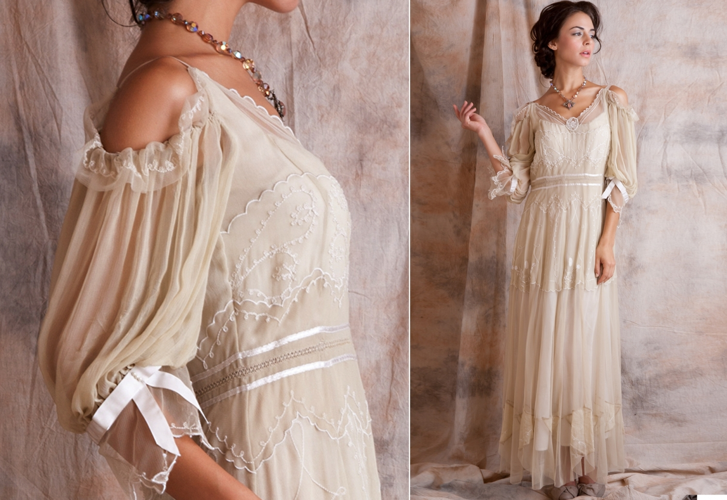 wedding dresses vintage style photo - 1