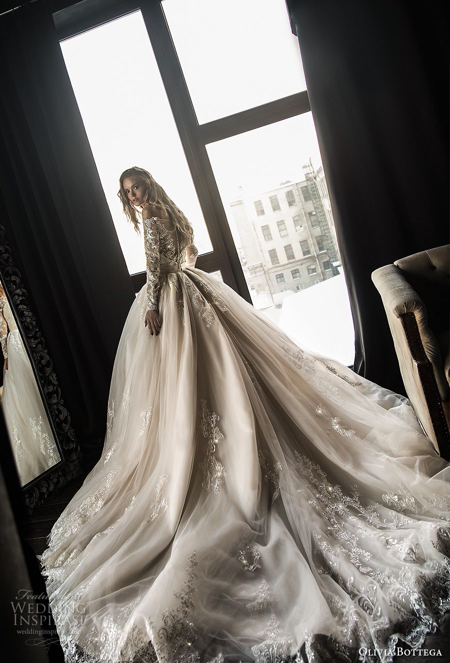 wedding dresses with a train photo - 1