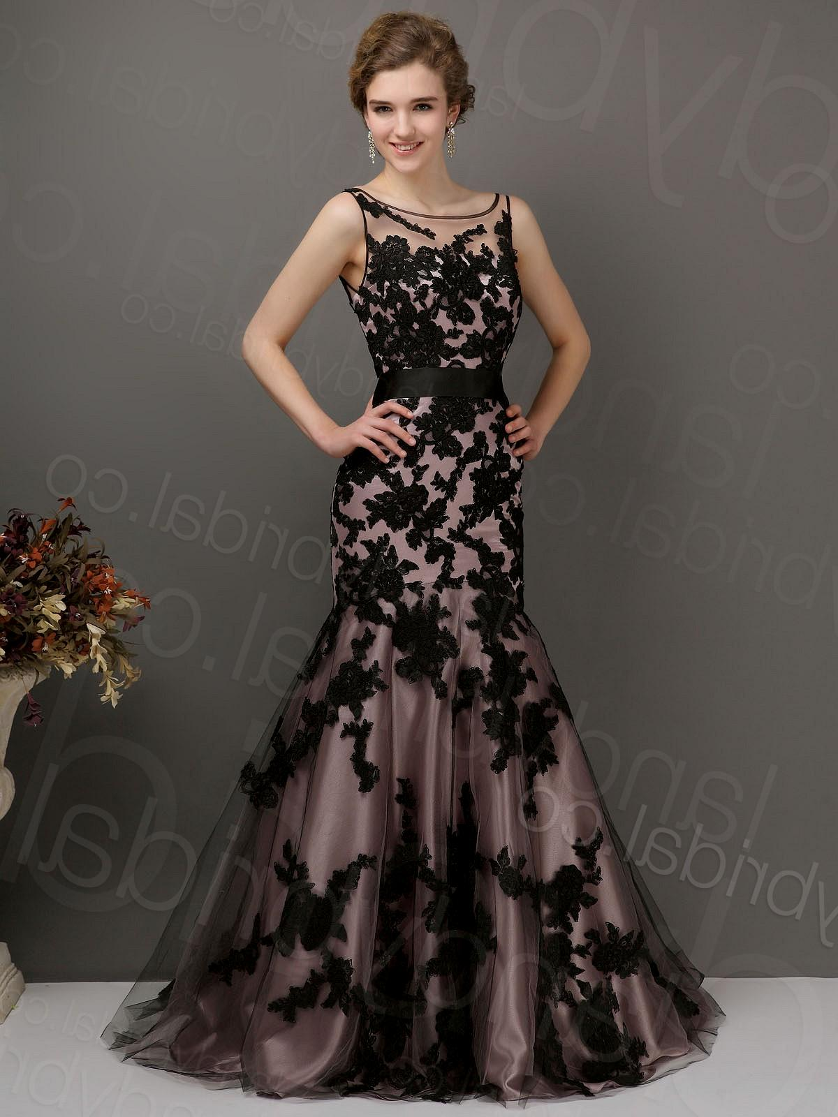 wedding dresses with black lace photo - 1