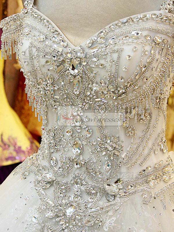 wedding dresses with bling photo - 1