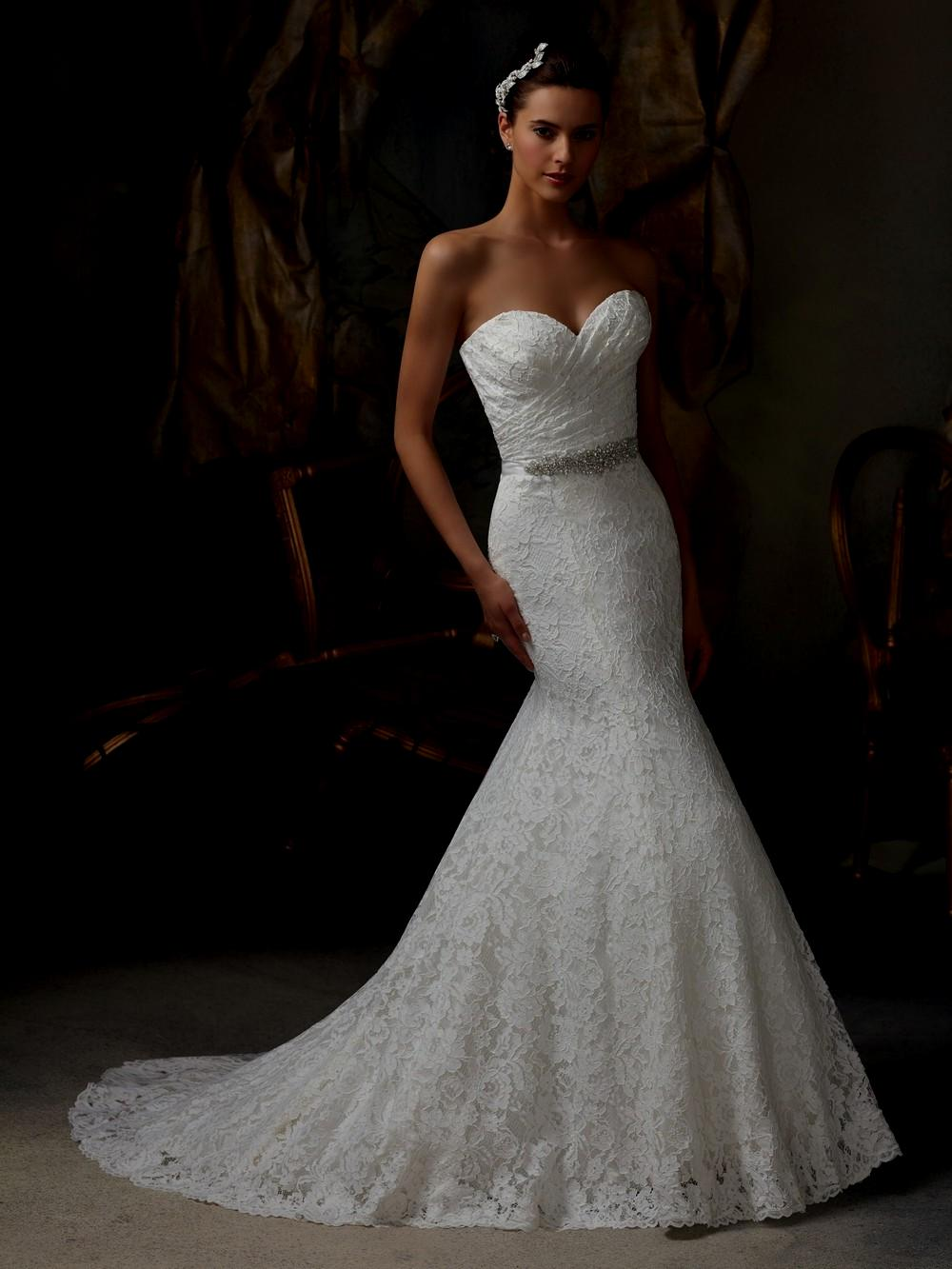 wedding dresses with bling and lace photo - 1