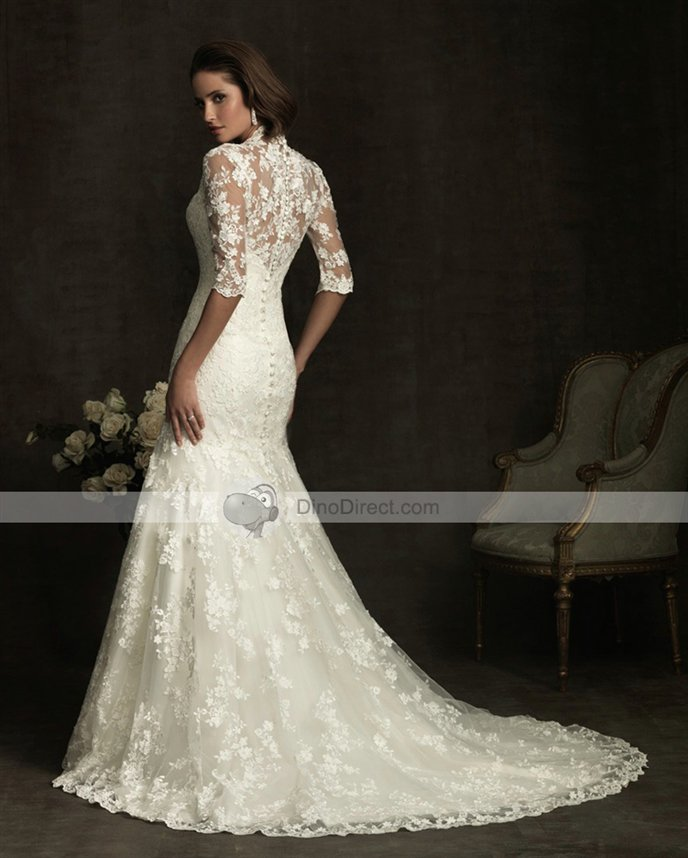 wedding dresses with collars photo - 1