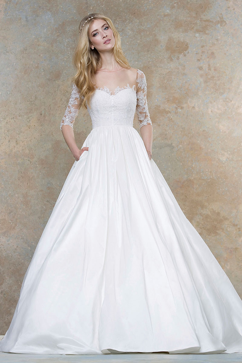 wedding dresses with color underneath photo - 1