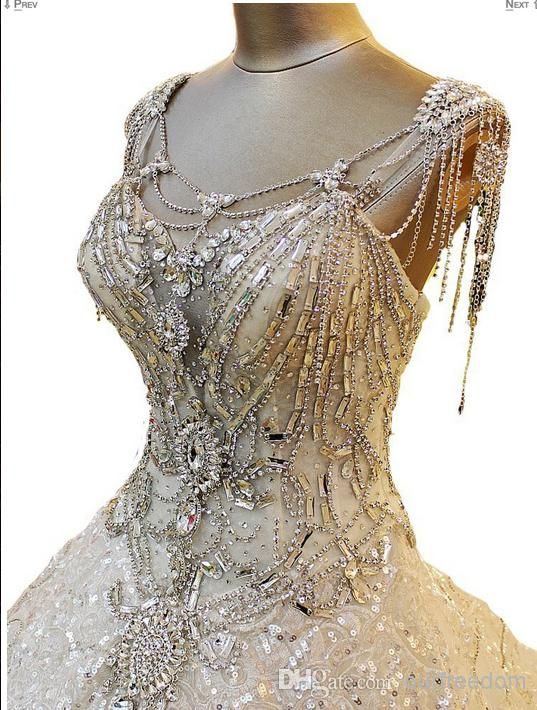 wedding dresses with crystals photo - 1