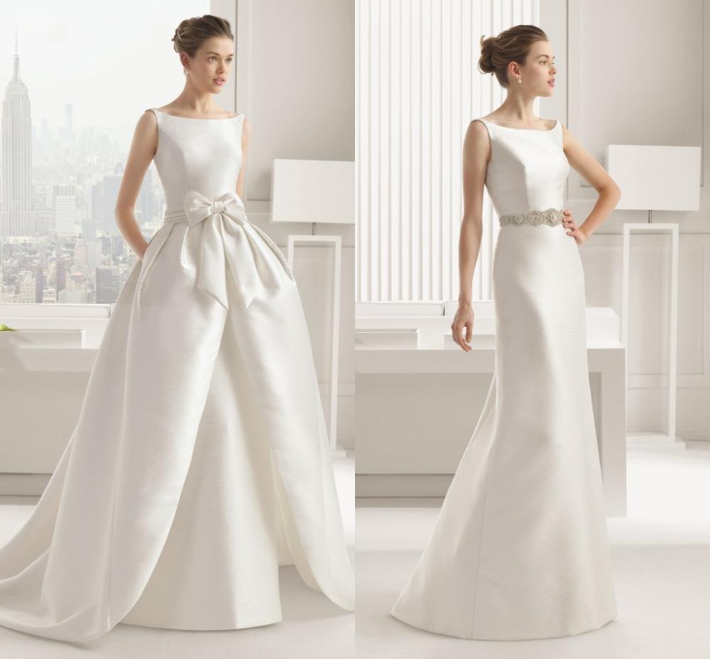 wedding dresses with detachable trains photo - 1
