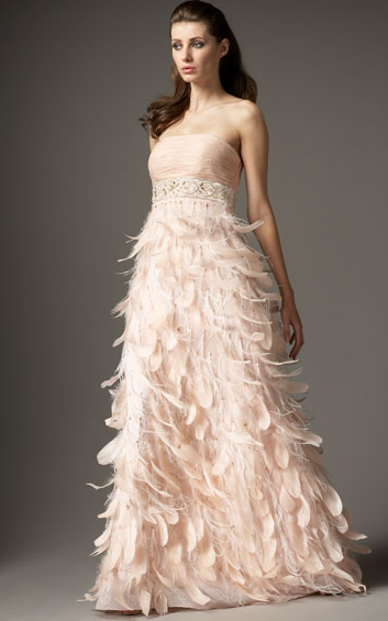 wedding dresses with feathers on bottom photo - 1