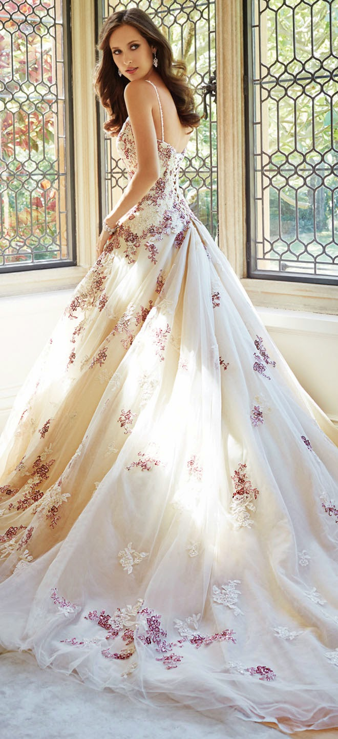 wedding dresses with flowers on them photo - 1