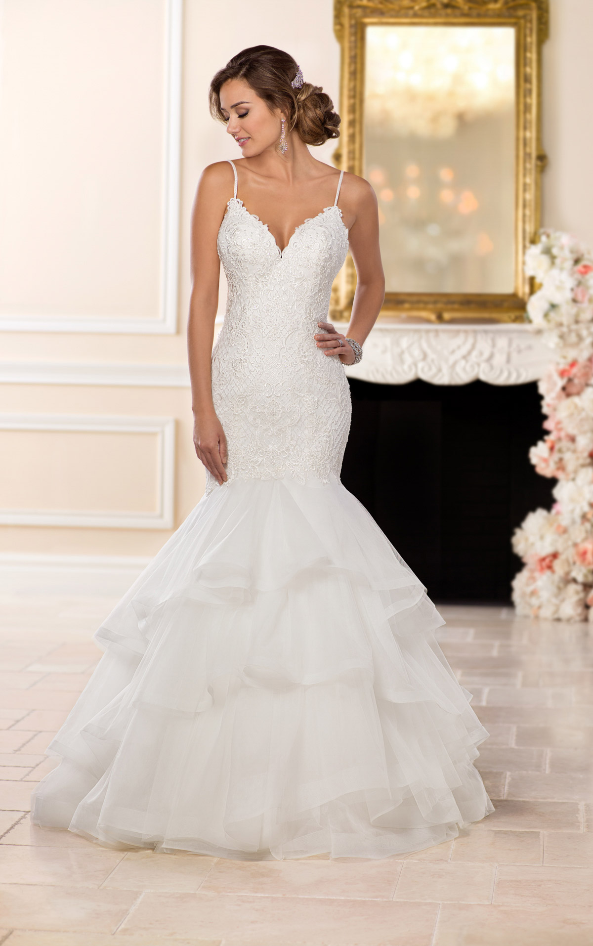 wedding dresses with lace straps photo - 1