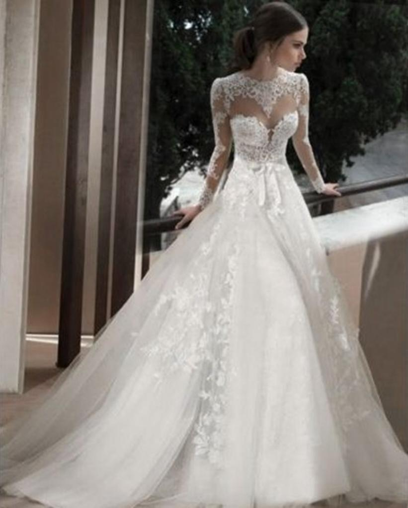 wedding dresses with long sleeves photo - 1