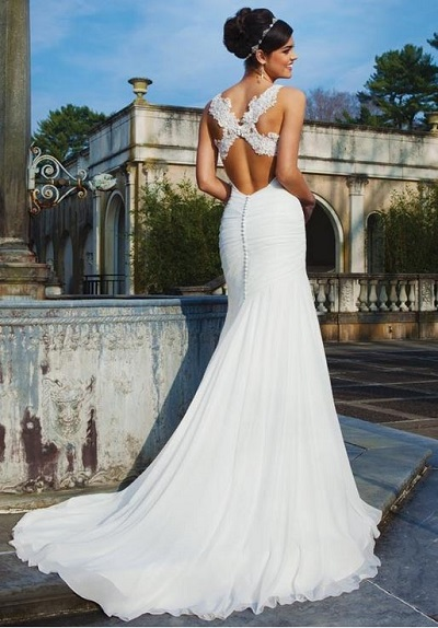 wedding dresses with pretty backs photo - 1