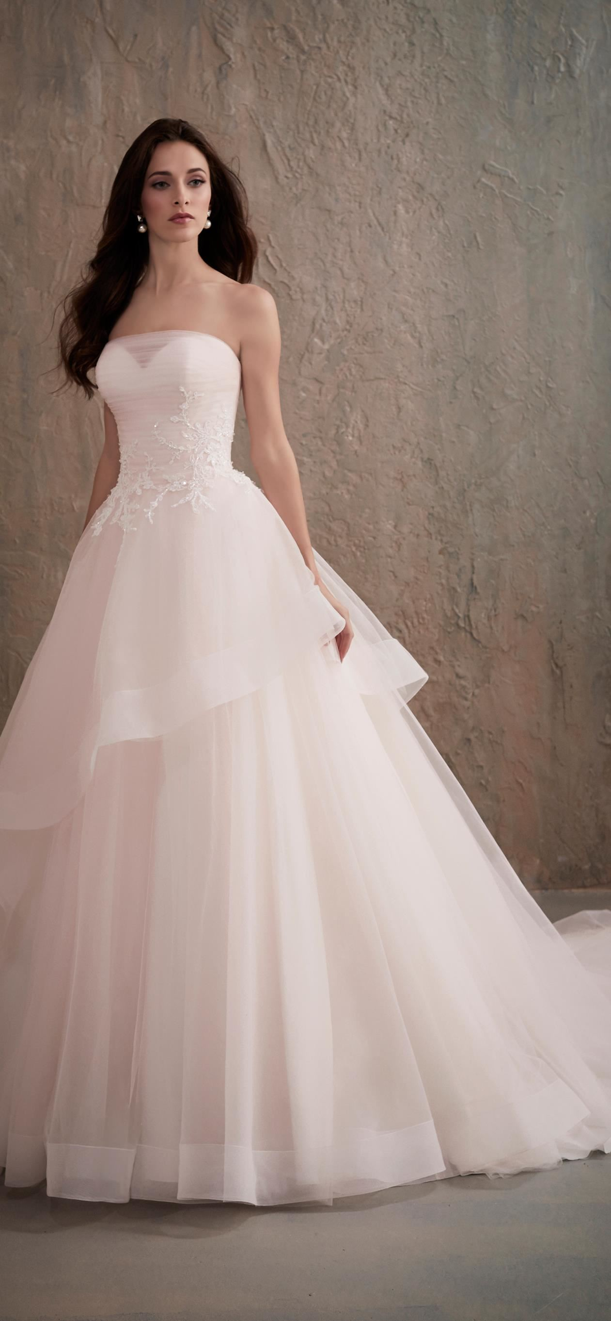 wedding dresses with purple accent photo - 1