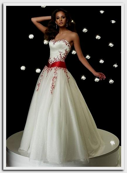 wedding dresses with red in them photo - 1