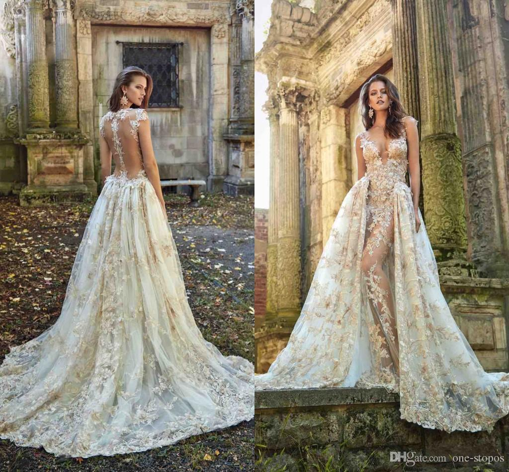 wedding dresses with removable skirts photo - 1