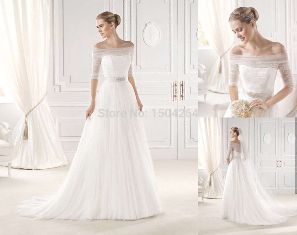 wedding dresses with shoulder sleeves photo - 1