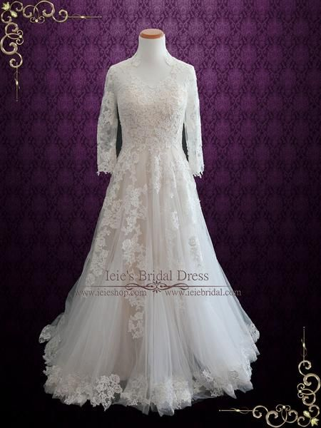 wedding dresses with sleves photo - 1