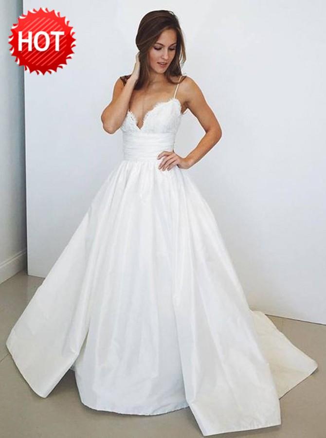 wedding dresses with spaghetti straps photo - 1