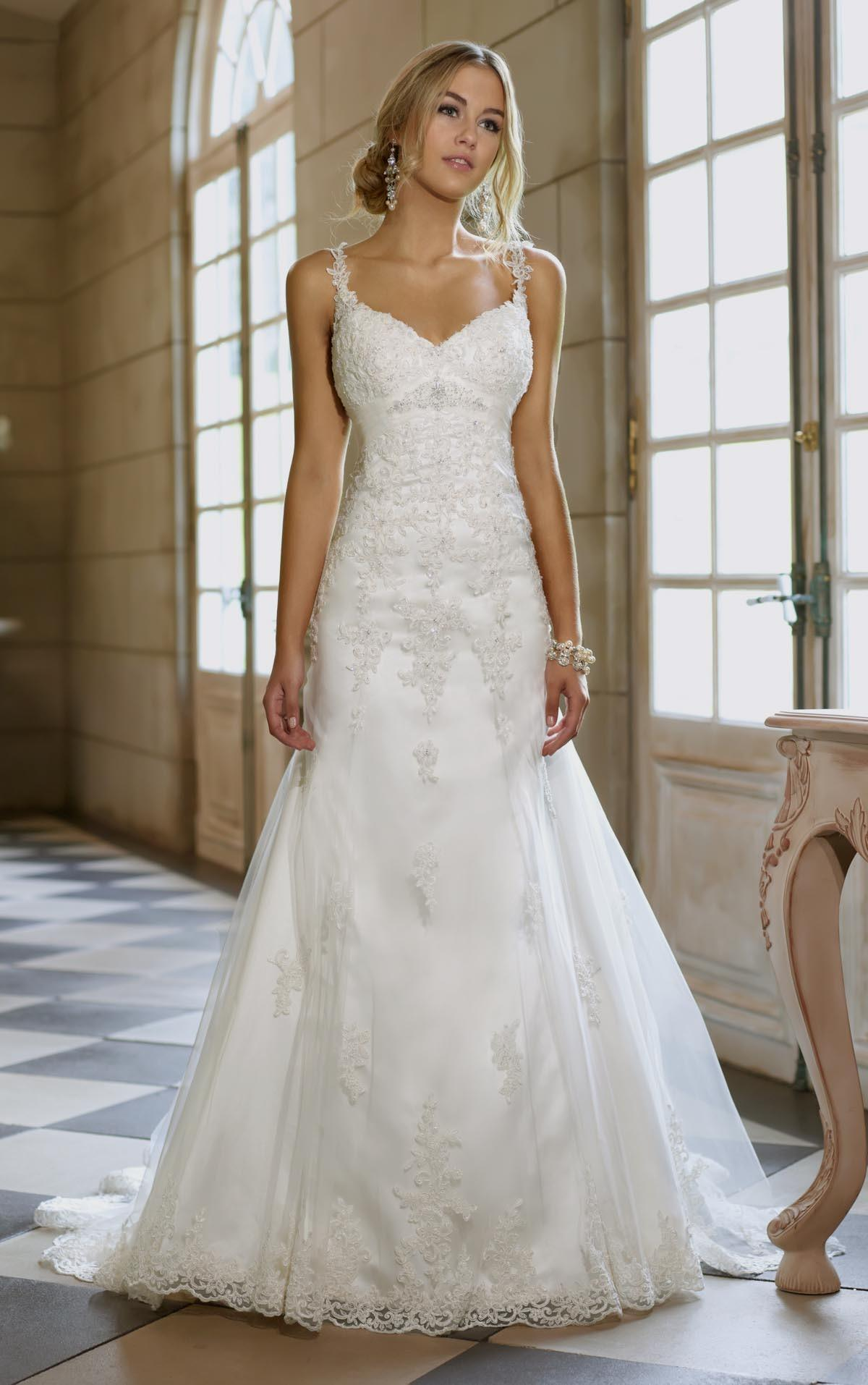 wedding dresses with straps and lace photo - 1