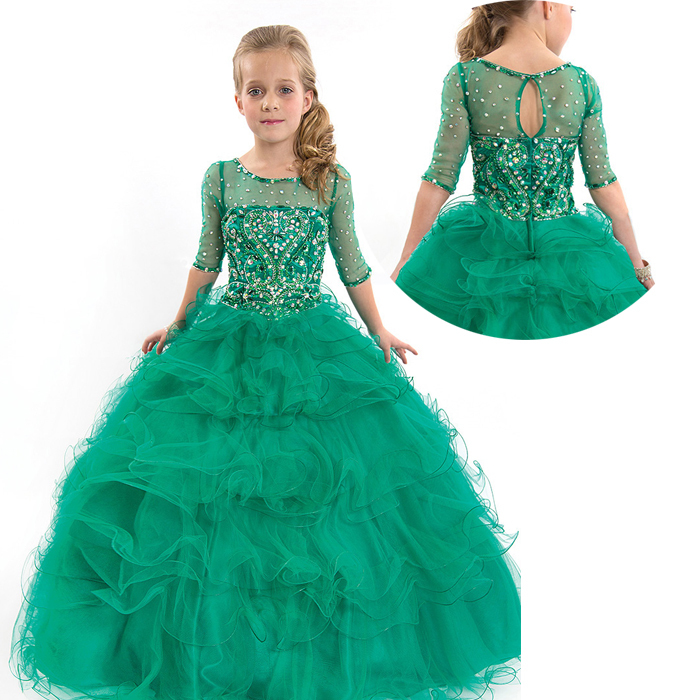 wedding dresses with teal color photo - 1