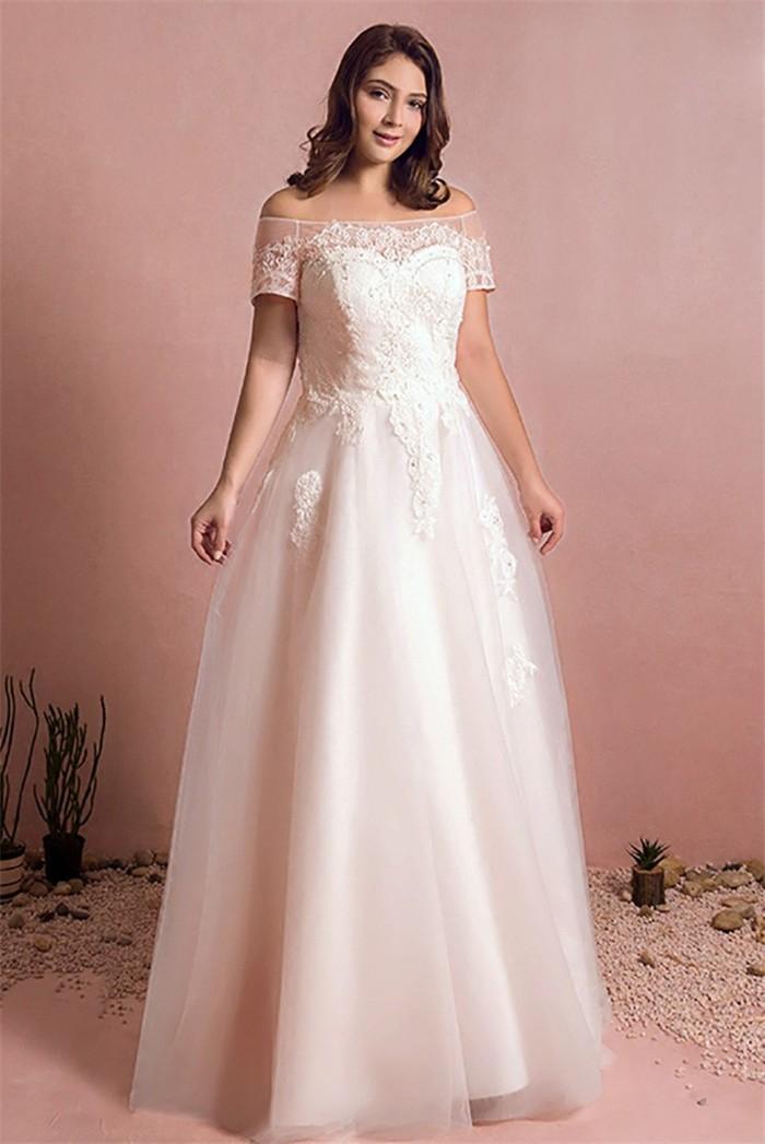 wedding dresses without lace photo - 1