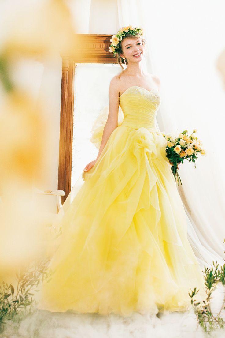 wedding dresses yellow photo - 1