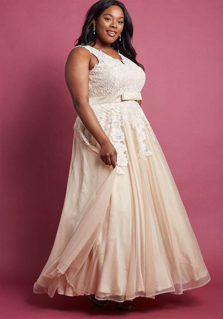wedding guest dresses plus size photo - 1