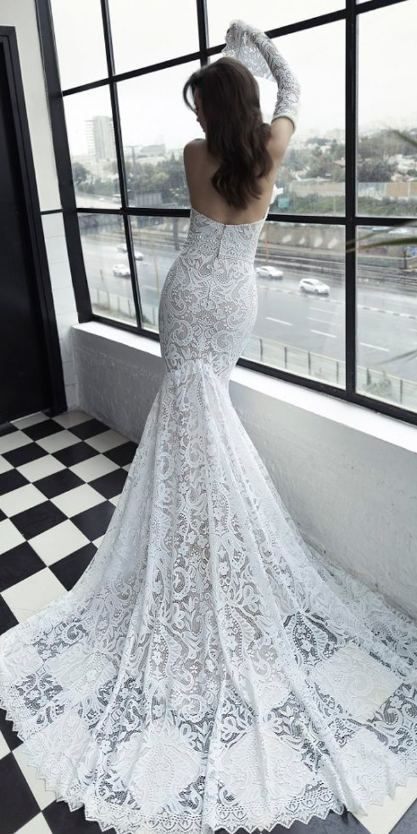 wedding lace dresses with sleeves photo - 1