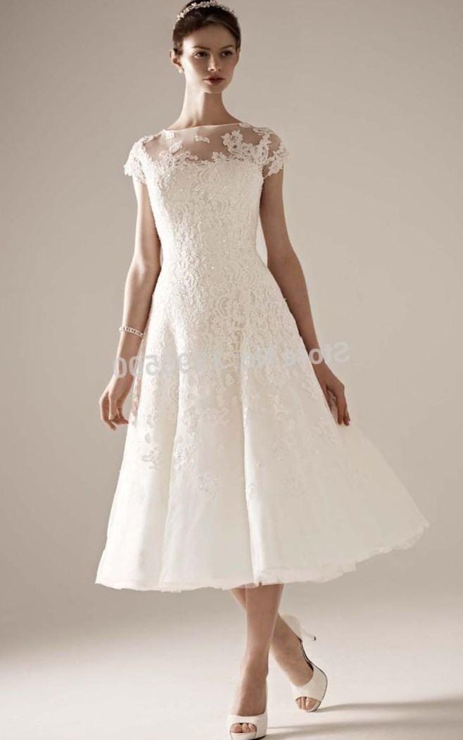 wedding tea length dresses photo - 1