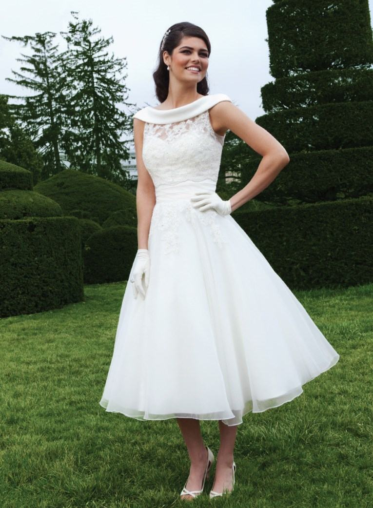 western wedding dresses short photo - 1