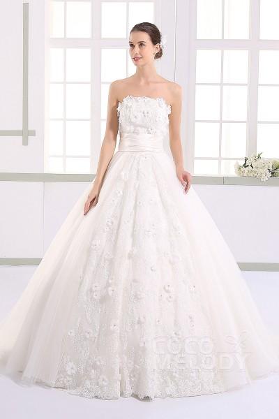 white ball gown wedding dresses photo - 1