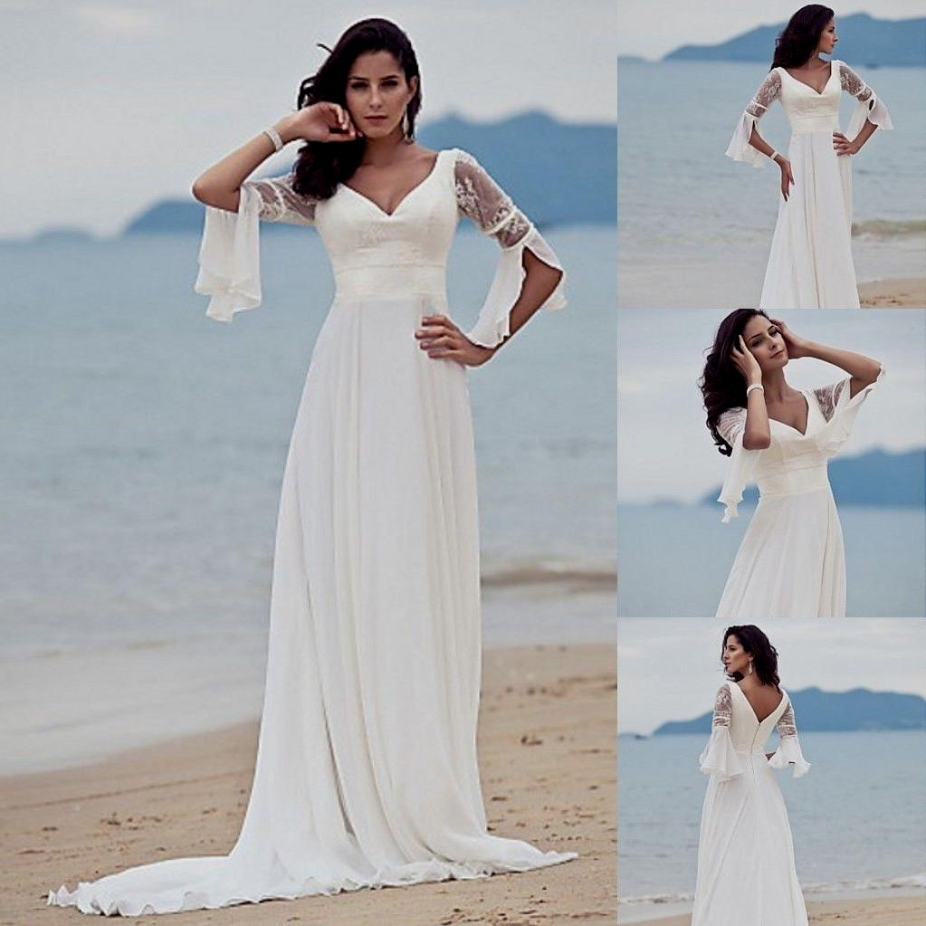 Cheap Wedding Gowns Toronto: White Beach Wedding Dresses Casual