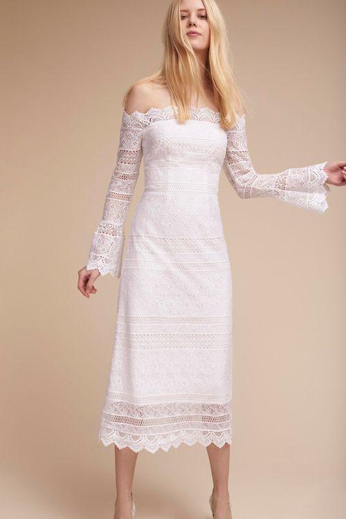 white dresses for wedding reception photo - 1