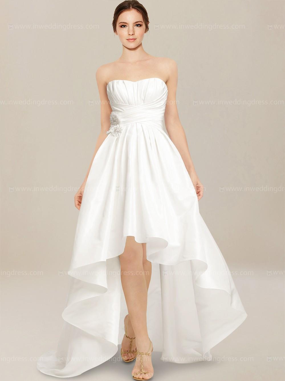 white high low wedding dresses photo - 1