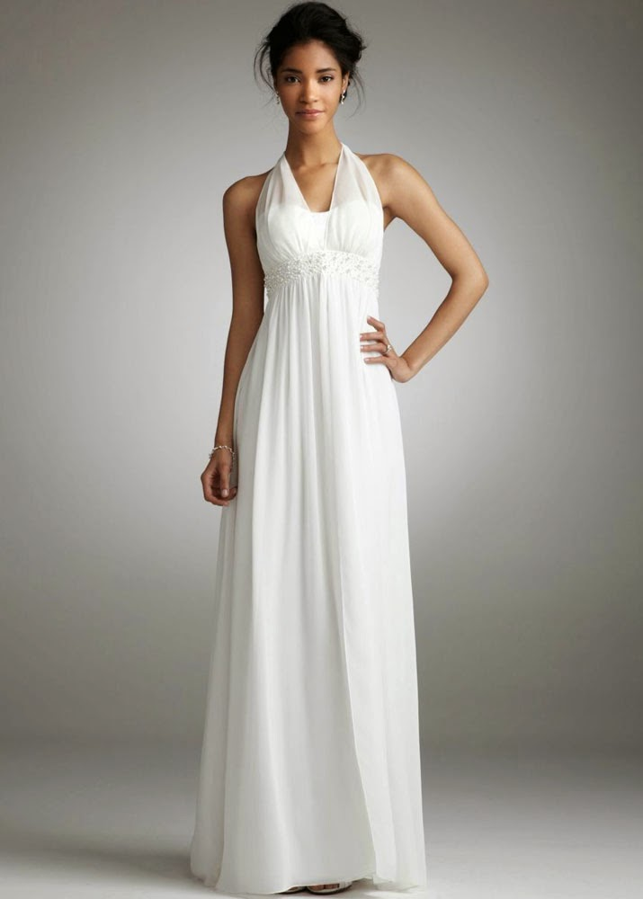 white informal wedding dresses photo - 1