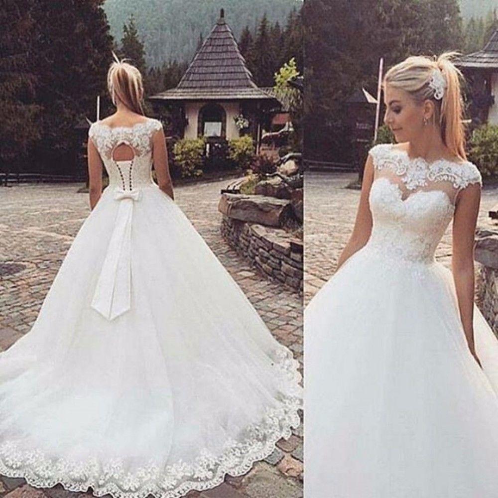 white lace wedding dresses photo - 1