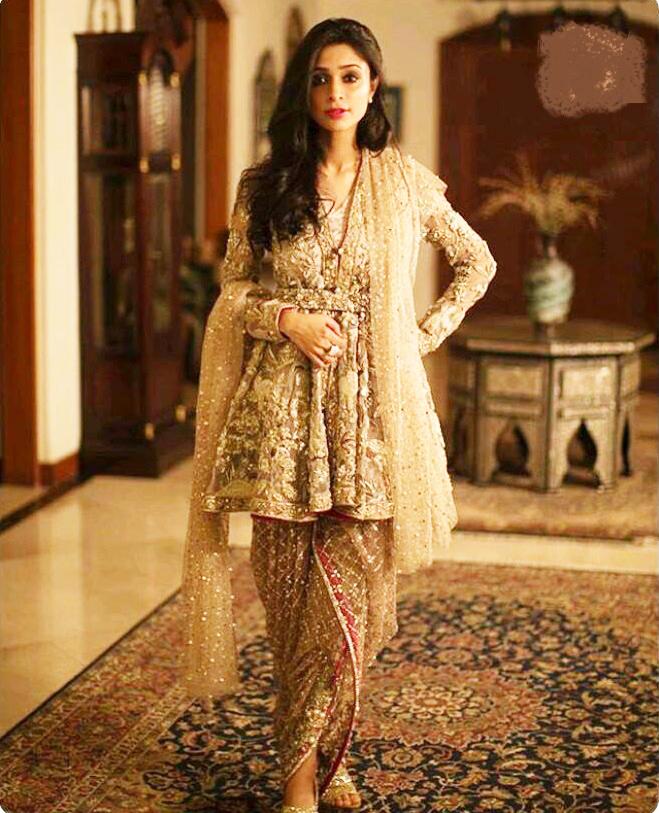 white pakistani wedding dresses photo - 1
