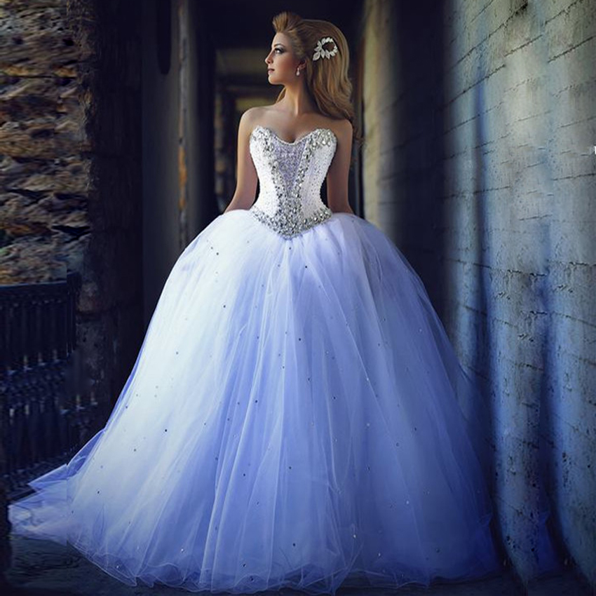 white puffy wedding dresses photo - 1