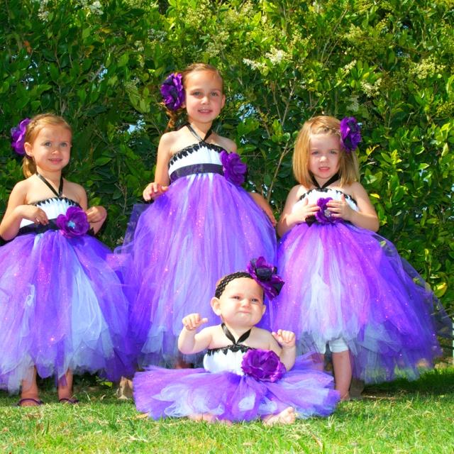 white purple wedding dresses photo - 1