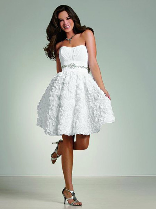 white short wedding dresses photo - 1