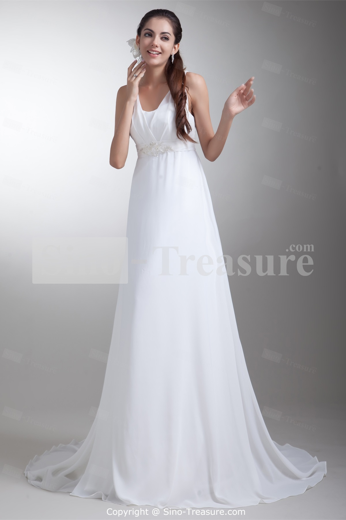 white summer wedding dresses photo - 1