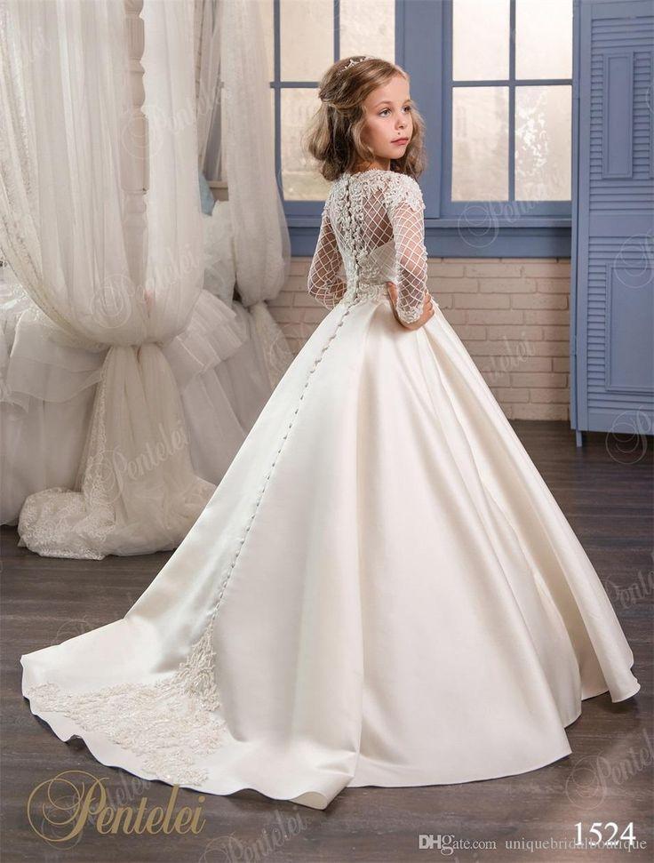 white wedding dresses for girls photo - 1