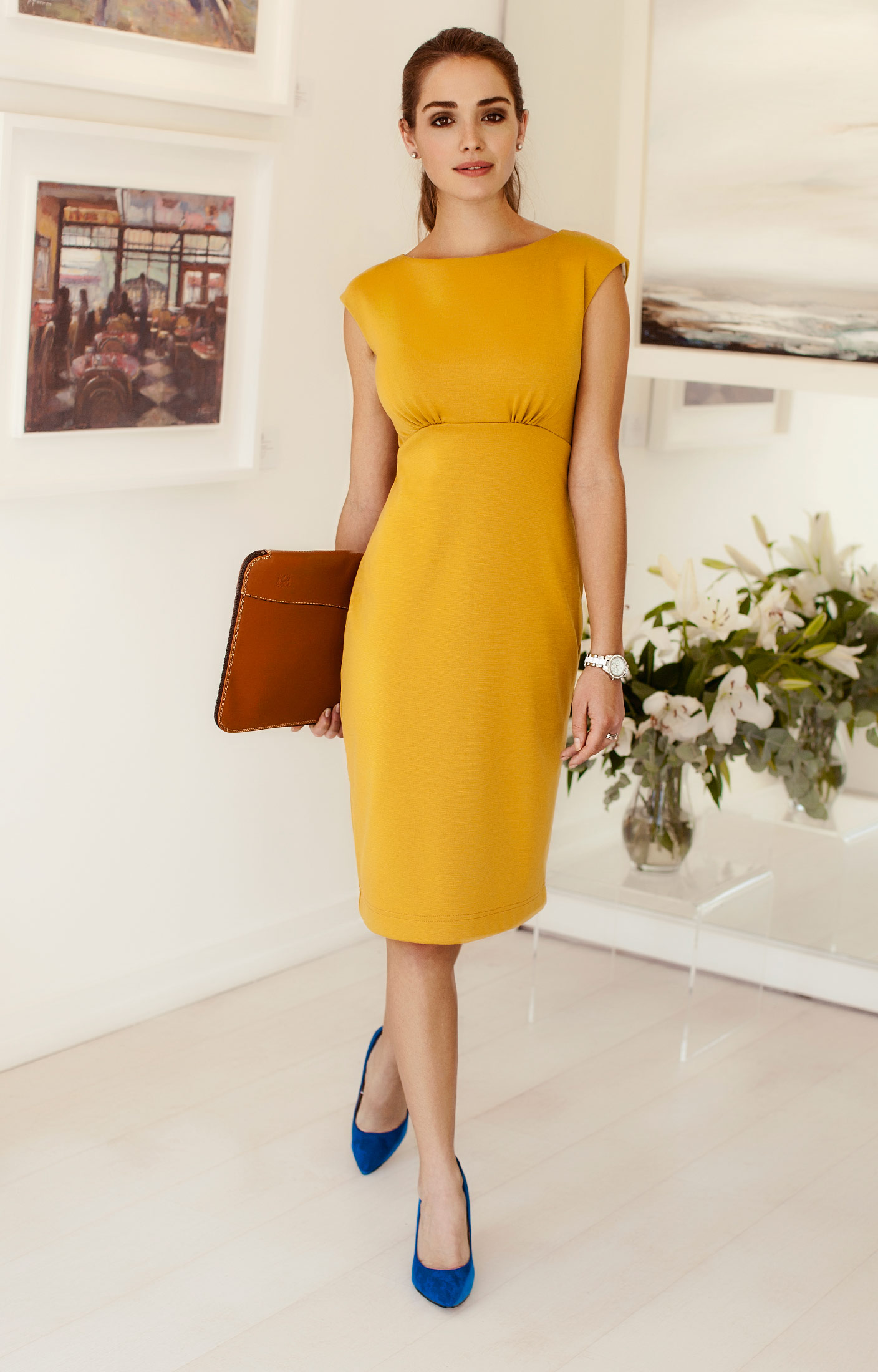 yellow dresses to wear to a wedding photo - 1