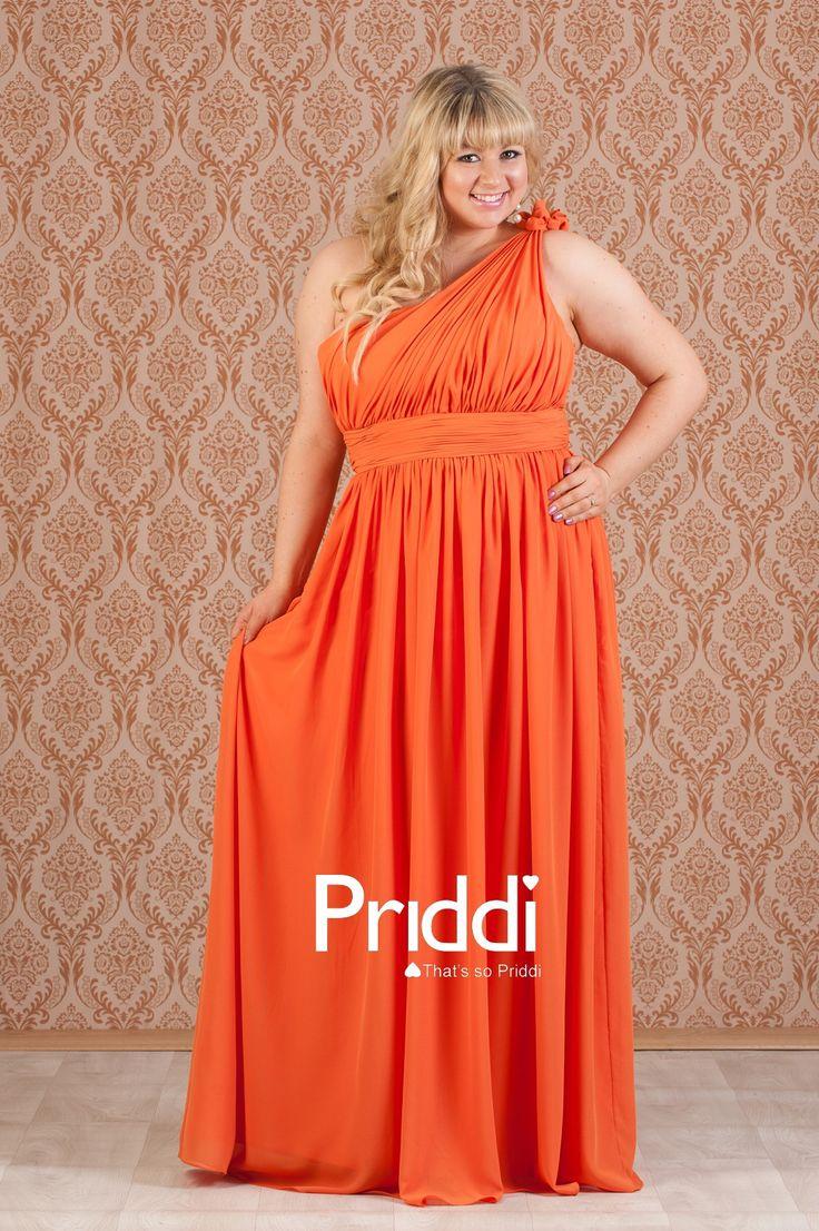 Burnt Orange Bridesmaid Dress - Cute A-line Chiffon Floor ... |Burnt Orange Gowns
