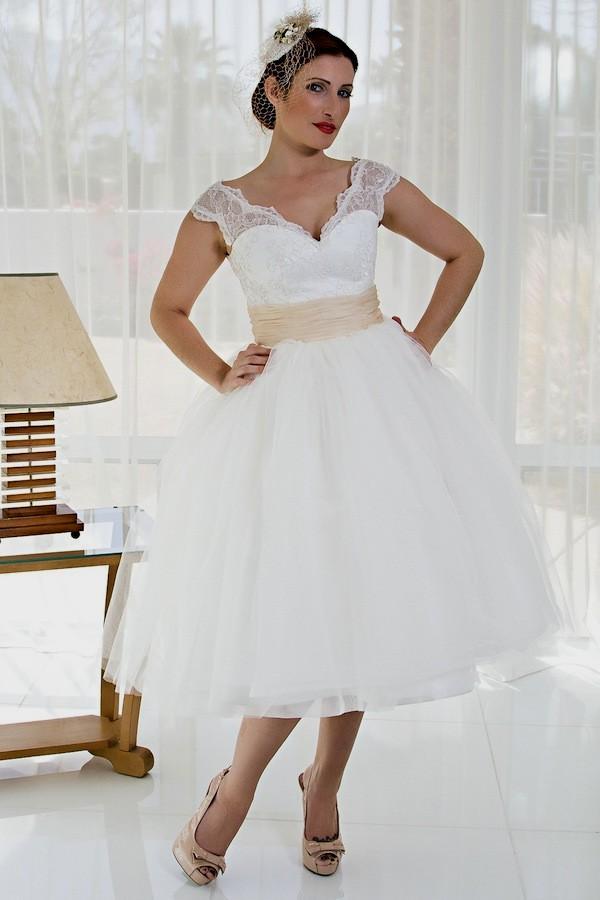 50s style wedding dresses plus size photo - 1