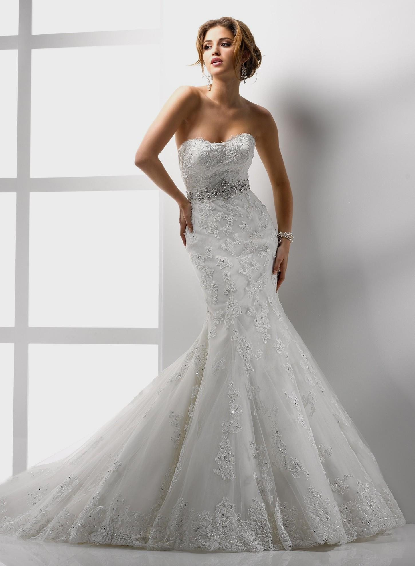 affordable lace wedding dresses photo - 1