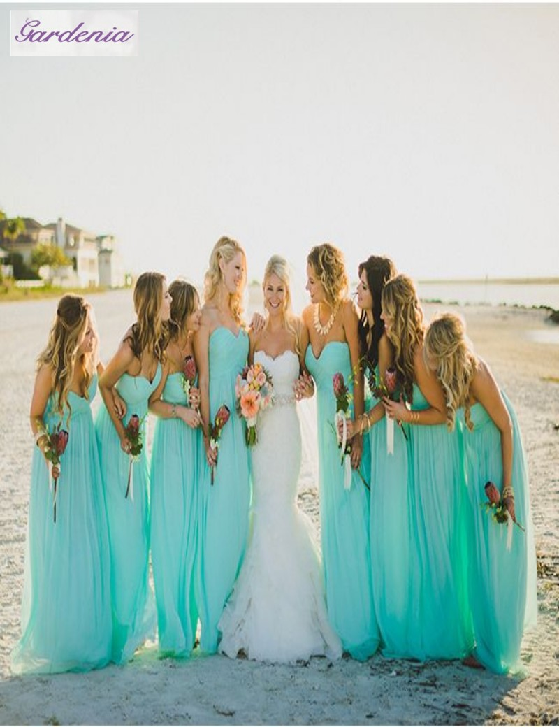 beach wedding bridesmaid dresses photo - 1